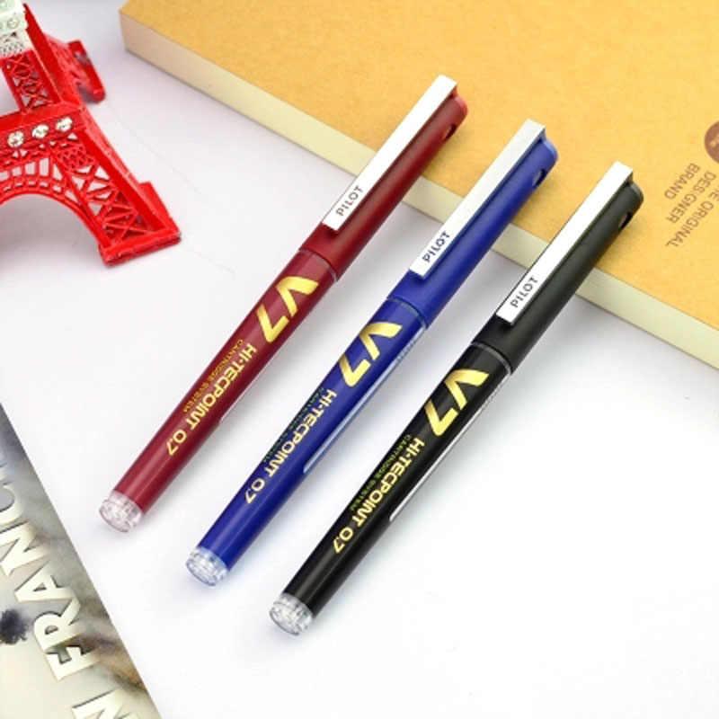 Pilot kolorowe pióro atramentowe kartridż do drukarki do ponownego napełnienia pisanie długopisy szkolne długopisy biurowe artykuły biurowe pióro kulkowe 0.7mm igła stalówka BXC-V7
