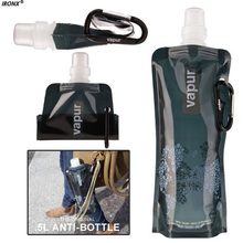 480ml Gifts Silicone Foldable Water Bottle 500ml Top Grade Silicone Water Bottles for Travel Outdoor Sport Dropshipping x