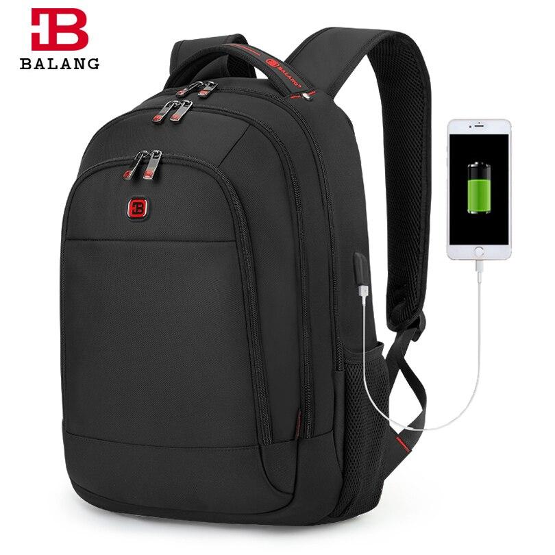 BALANG 2019 hommes Anti-vol sac à dos étanche pour 17 pouces ordinateur portable unisexe avec Interface USB école Multi fonction sac de voyage