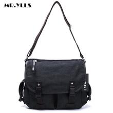 MR.YLLS New Canvas Men Messenger Shoulder Bag Fashion Big Crossbody Bags Casual Multi-Function Vintage Middle Size Handbags