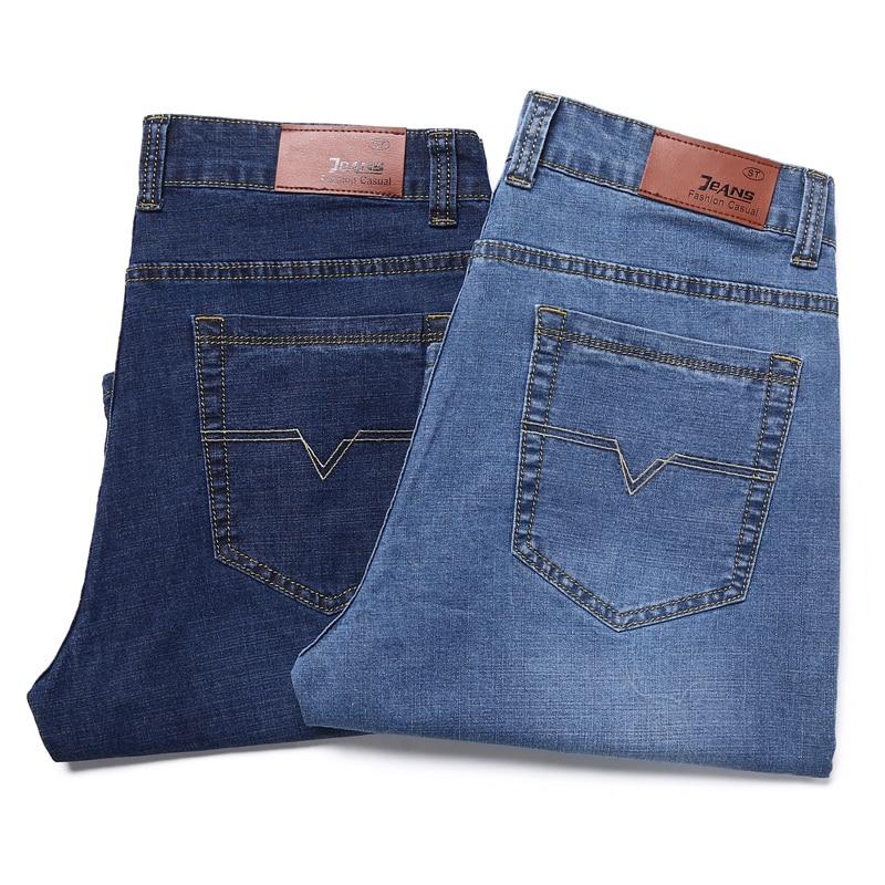 PLUS 28-50 Men's Denim Shorts Good Quality Short   Jeans   Men Cotton Solid Straight Short   Jeans   Male Blue Casual Short   Jeans