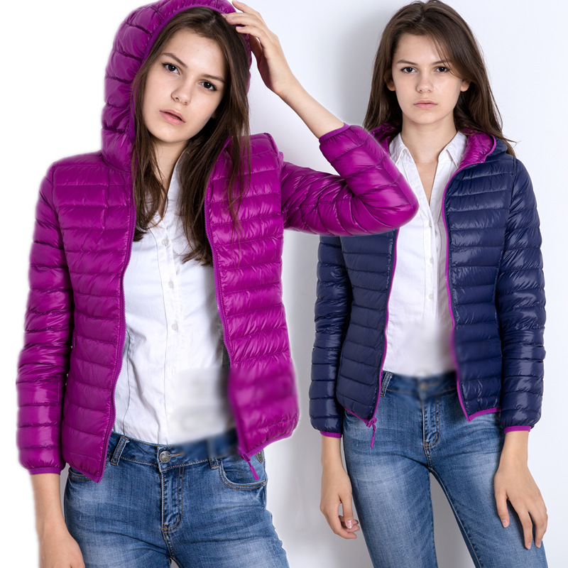 NewBang Brand Women Duck   Coats   Ultra Light   Down   Jacket Women Lieghtweight Double Side Reversible Jackets Women's Windbreakers