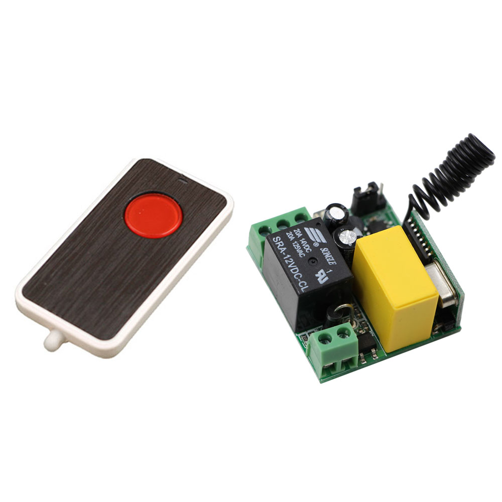 Smart Home 315Mhz 433Mhz AC220V 1CH Wireless Remote Control Switch System Mini Receiver with Case +Transmitter New wireless pager system 433 92mhz wireless restaurant table buzzer with monitor and watch receiver 3 display 42 call button