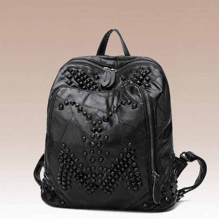 Sac newhotstacy 111416 femmes nouveau sac à dos en cuir véritable mode double sac à bandoulière - 2
