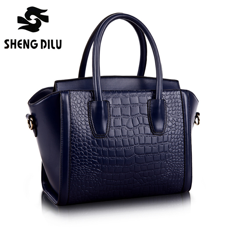 shengdilu brand new 2018 handbag women 100% genuine leather Crocodile pattern shoulder fashion  Messenger bag free Shipping yuanyu new 2017 hot new free shipping crocodile leather women handbag high end emale bag wipe the gold