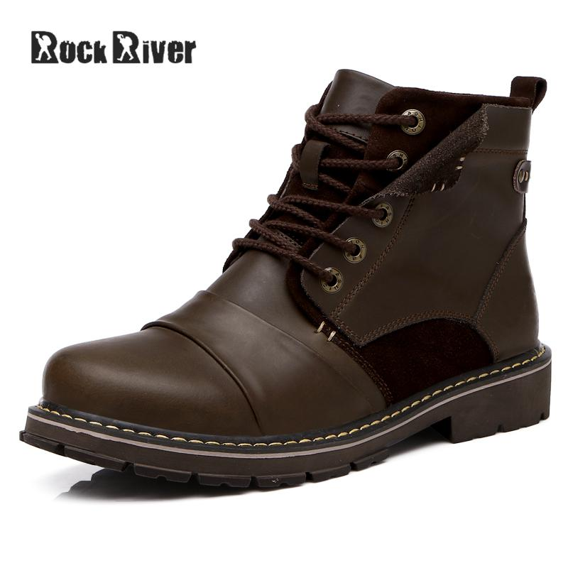 Rock River 2017 Designer Black Winter Boots Men, Handmade Waterproof Genuine Leather Boots Men Dr Martins Work Shoes Big Size 45 faak long anal dildo butt plug suction cup chinese cabbage design dildo sex products anal plug penis sex toys women man sex shop