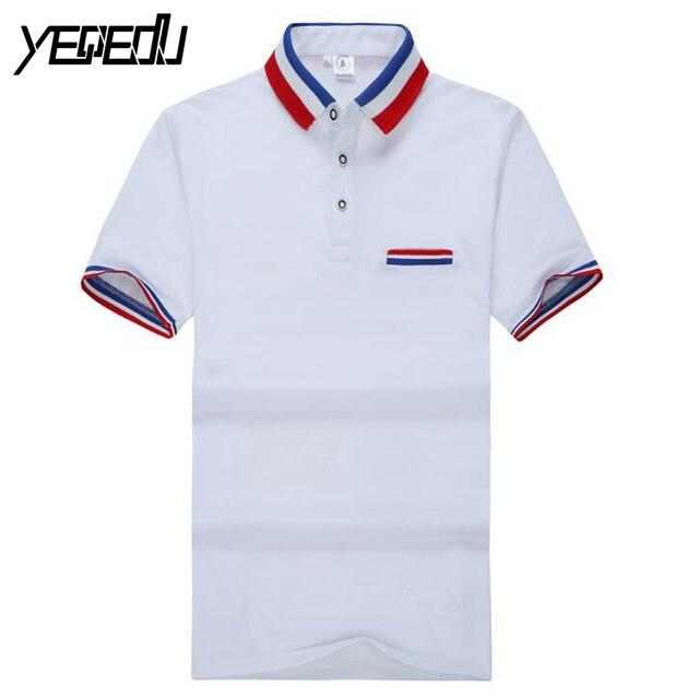 #2107 Хлопок Корейский Polo мужчины Мода Повседневная Polo homme Летом 2017 Camisa polo masculina Polo homme марка С Коротким рукавом 3XL