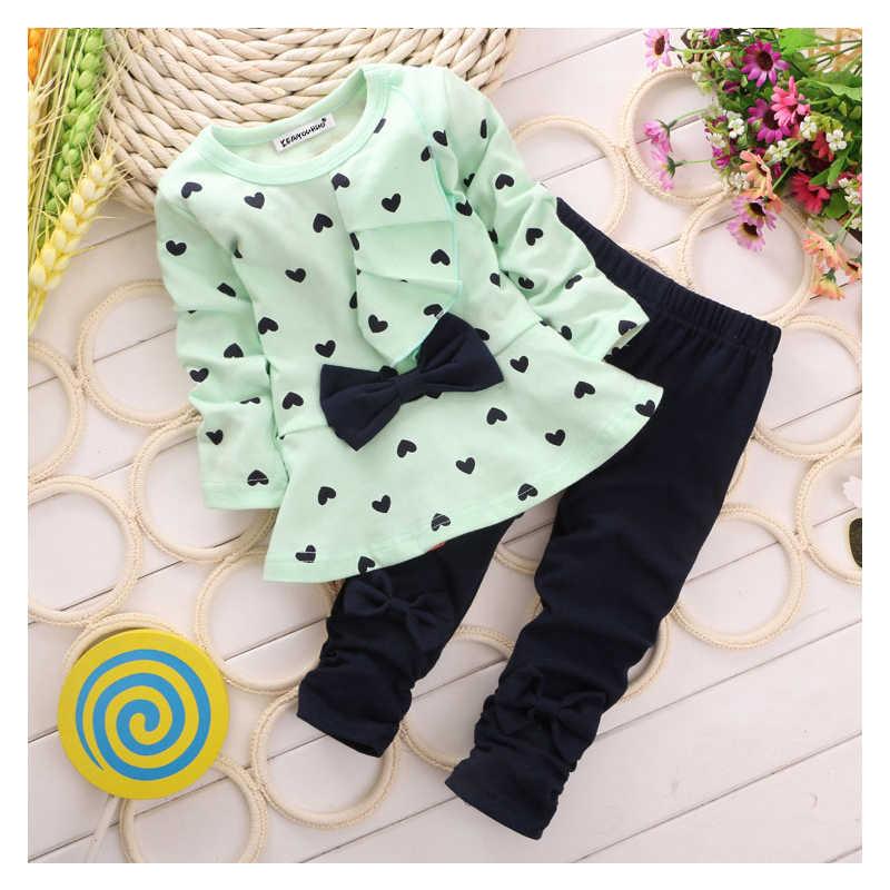 1b5d36d5c352d ... Toddler Girls Clothing Sets 2017 Autumn Winter Children Girls Clothes T- shirt+Pants Baby ...