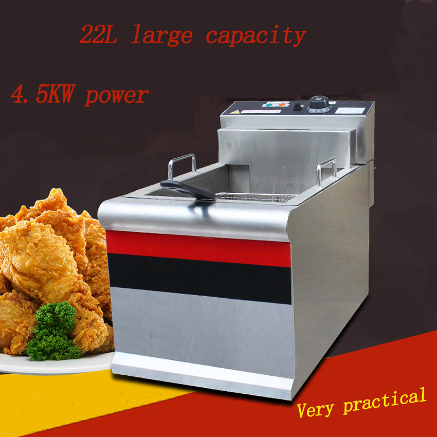1PC Thickened single cylinder electric fryer commercial fryer fryer fried chicken row machine  large capacity fryer salter air fryer home high capacity multifunction no smoke chicken wings fries machine intelligent electric fryer