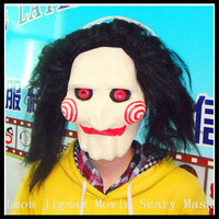 Halloween Party Cosplay Men's Silicone Face Mask Saw Cosplay Movie Jigsaw Party Masquerade Rubber Latex Masks For Halloween