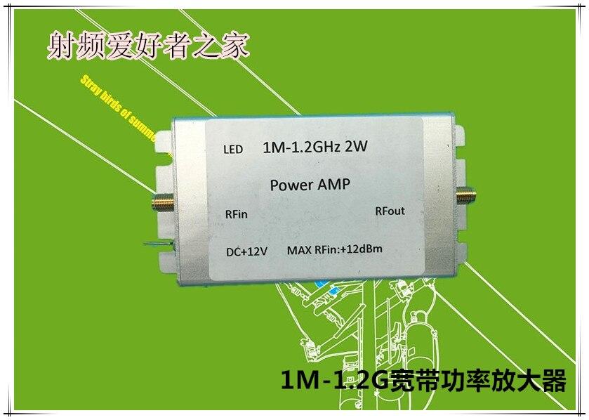 1 M-1200 MHz 2 W güç amplifikatörü HF FM VHF UHF FM Verici Geniş Bant RF güç amplifikatörü