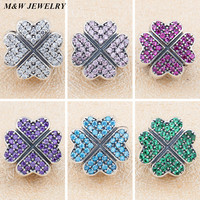 M W JEWELRY Fashion DIY Snake Chain For Women S Lucky Grass Fixed Buckle Positioning Button