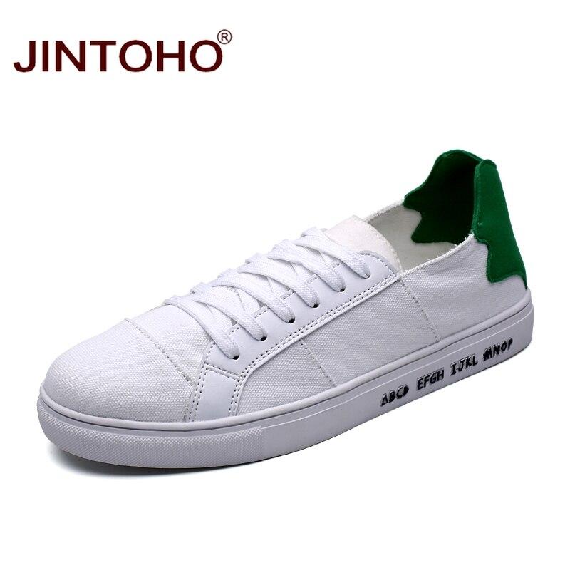 Prix pour Jintoho 2017 sport hommes blanc chaussures pas cher hommes planche à roulettes chaussures toile espadrilles espadrilles chaussures hommes formateurs blanc sneakers