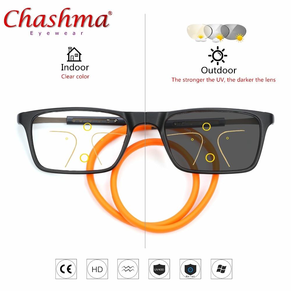 adcc7f19c0bb0 Progresiva gafas multifocales transición gafas de sol fotocromáticos gafas  de lectura hombres puntos lector Cerca Lejos vista dioptrías
