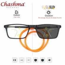 Progressive multifocal óculos de sol de transição photochromic óculos de leitura  homens pontos para o leitor perto de distante v. af8ec18def