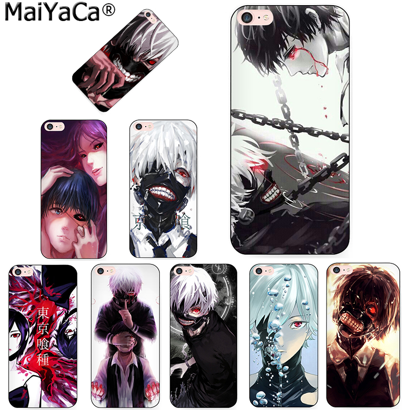 MaiYaCa Japenese anime Tokyo Ghoul Kaneki Ken Top Detailed Popular Phone case for Apple iPhone 8 7 6 6S Plus X 5 5S SE 5C Cover