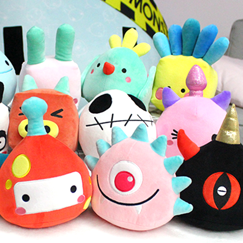 Creative design plush toys children cute animals and geometry little monster popular toys The holiday gift