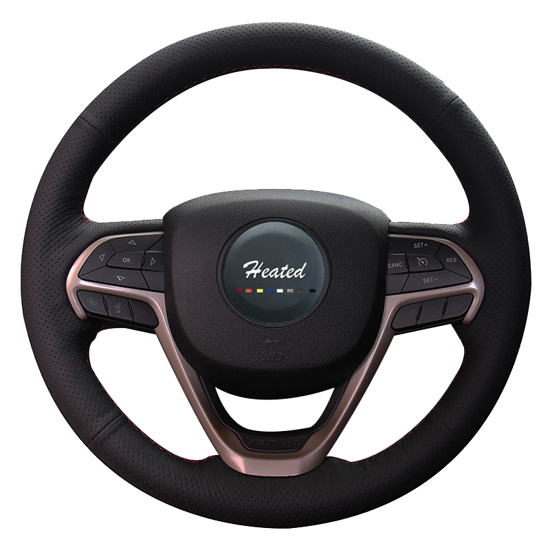 Steering Wheel Cover for Jeep Grand Cherokee 2014-2016 Artificial Leather Braid on the steering wheel