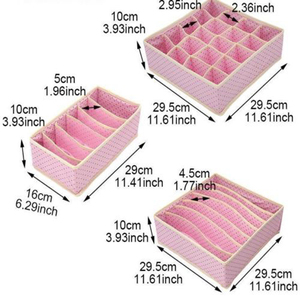 Image 5 - 3 Gấp Gọn Vải Không Dệt Nhà Đồ Lót Hộp Bảo Quản Cho Áo Ngực Buộc Tất Hộp Đựng Ban Tổ Chức Tủ Quần Áo Rút Chia Ngăn
