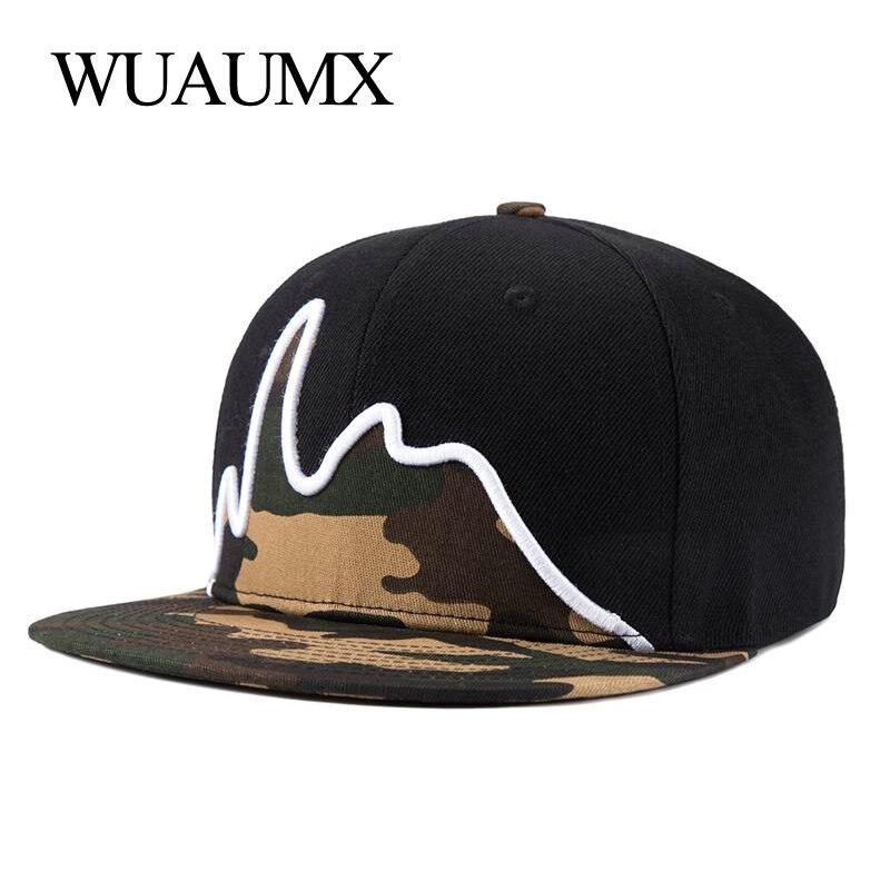 Wuaumx Snapback-Caps Flat Brim Hip-Hop Straight Women for Hat Casquette-Bone Masculino