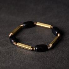 Cuentas de cobre para pulseras de ébano Mix moda Rock Street cuentas geométricas únicas contraído salud espiritual joyería masculina femenina