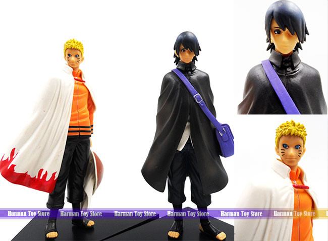 15 5cm 2pcs/lot Naruto/Uchiha Sasuke adult version action figure set kids  toys for boys Japanese anime figure