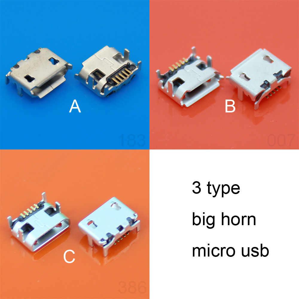 3 type offre spéciale pour micro mini 5 P broches USB prise connecteur connecteur chargeur port de charge, 4 pieds DIP, gros corne de boeuf grand