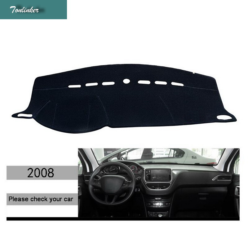 Tonlinker Interior Dashboard Anti dirty pad Cover Stickers for Peugeot 2008 2014 19 Car Styling 1 Pcs Polyester Cover sticker