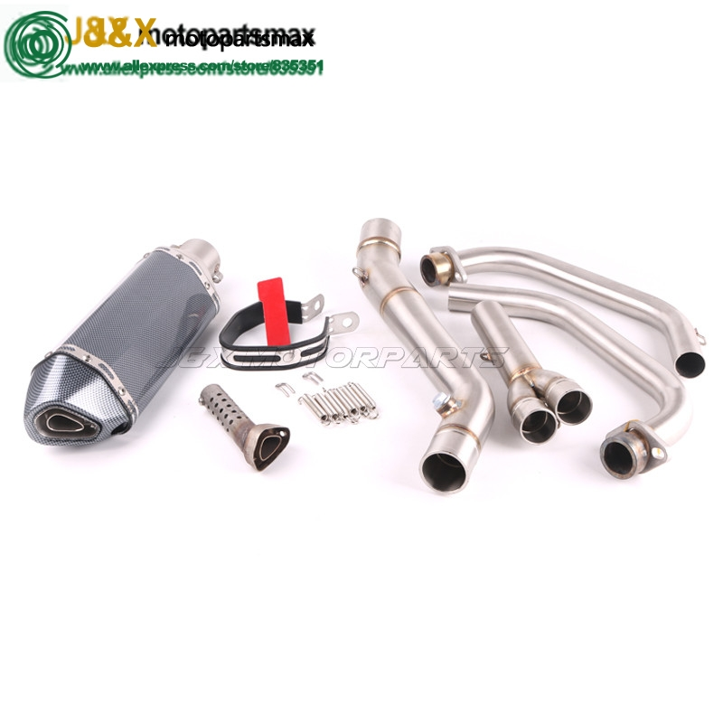 YZF R30 R25 R3 MT-03 MT03 Motorcycle Exhaust Full system contact middle pipe + muffler FOR Yamaha R25 R30 2014-2016 silp-on женское бикини sky r30
