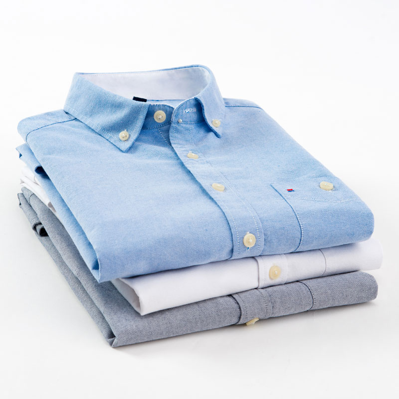 100% Baumwolle Hohe Qualität Weichen Männer Oxford Kleid Shirt Mode Slim Fit Sommer Kurzarm Männer Social Smart Casual Hemd Herausragende Eigenschaften