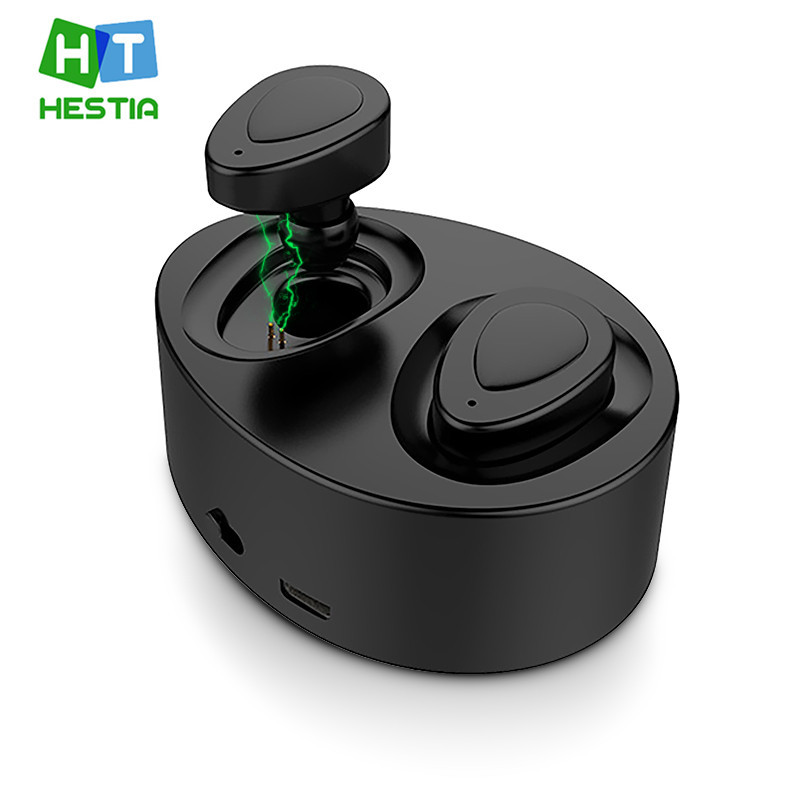 HESTIA TWS K2 Bluetooth Earphone Mini Wireless Stereo Music Headset With Mic Power Bank Charger Box For Smart Phones Earbuds