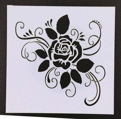 Шаблоны трафаретов для стен крупные цветы