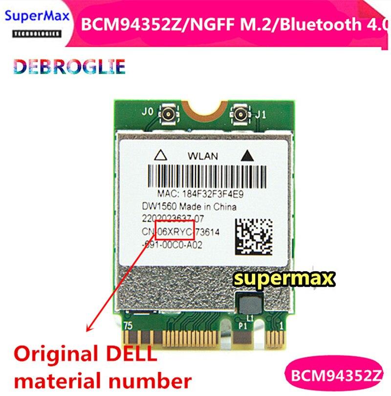 Broadcom DW1560 BCM94352Z BCM94352ZAE DW1560 NGFF 867Mbps 802 11ac Bluetooth 4 0 Wlan Card