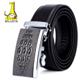 [MILUOTA] Men's Fashion Genuine Leather Belts for Men High Quality Metal Automatic Buckle Strap Male Jeans Cowboy MU078