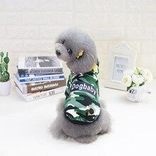 위장 개 의류 봄 여름 작은 강아지를위한 애완 동물 셔츠 강아지 복장 멋진 애완 동물 코트