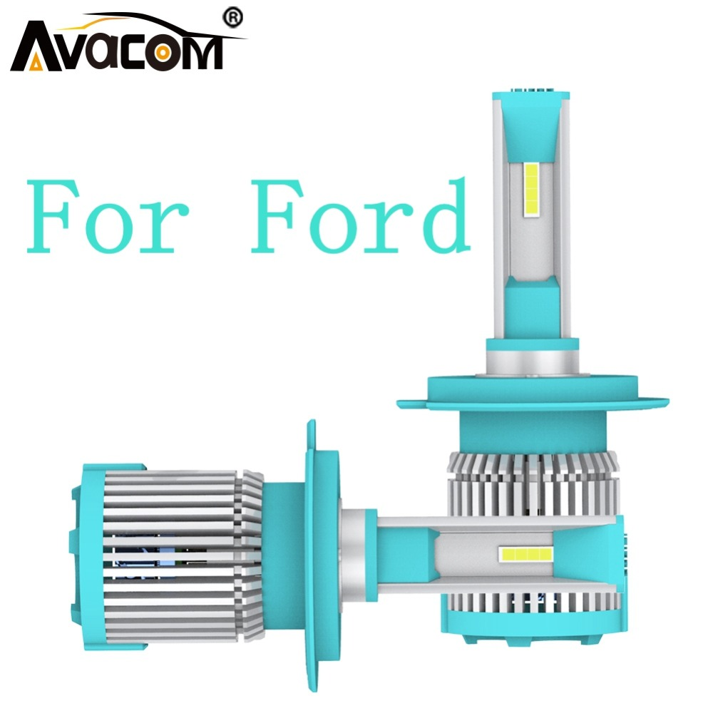 Avacom 12v Led Car Headlight 6500k 1860 Chip 10560lm H7 H11 Auto Lamp For Ford Explorer/freestar/focus/mondeo/ranger/fusion/kuga To Produce An Effect Toward Clear Vision Automobiles & Motorcycles