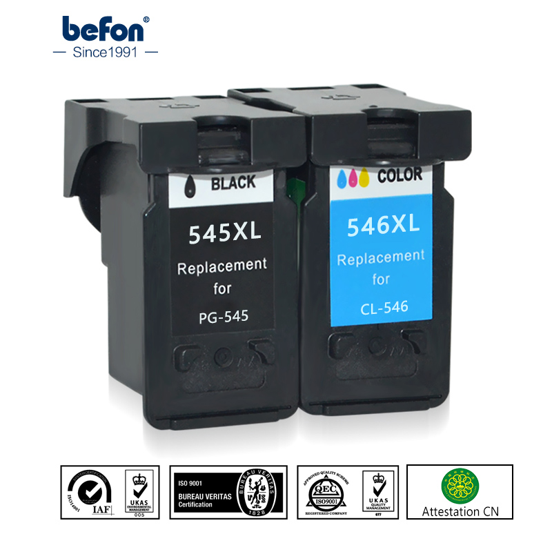 befon Re-Manufactured <font><b>545XL</b></font> <font><b>546XL</b></font> Ink Cartridge Replacement for <font><b>Canon</b></font> PG545 CL546 for Pixma MG3050 2550 2450 2550S 2950 MX495 image