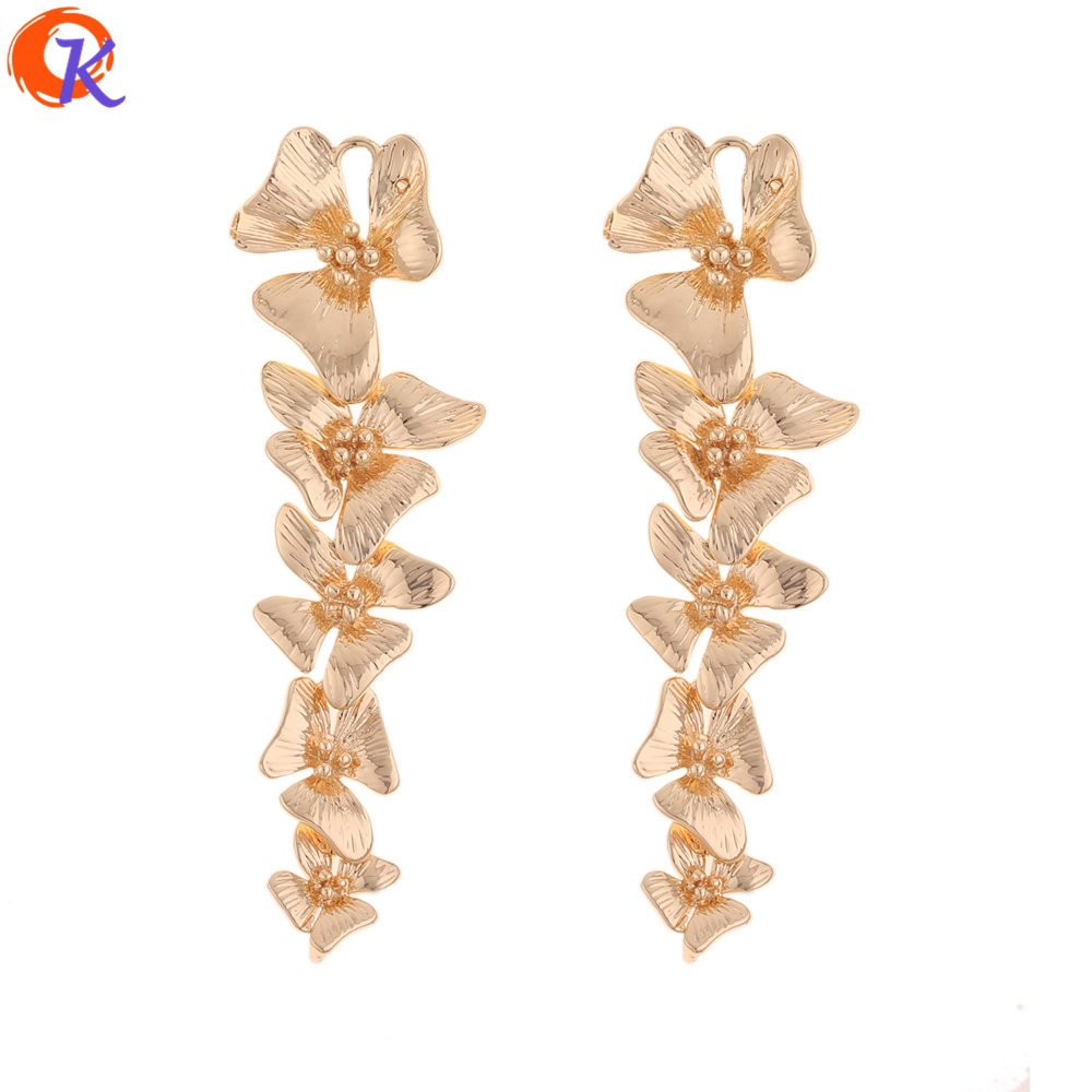 Cordial Design 20Pcs 16*58MM Jewelry Accessories/Earrings Connectors/Genuine Gold Plating/DIY Making/Hand Made/Earring Findings