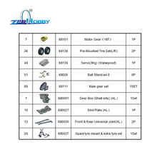цены HSP RC CAR SPARE PARTS ACCESSORIES REPLACEMENT PARTS FOR HSP 1/10 ROCK CRAWLER MODEL 136100 WITH 9 PARTS