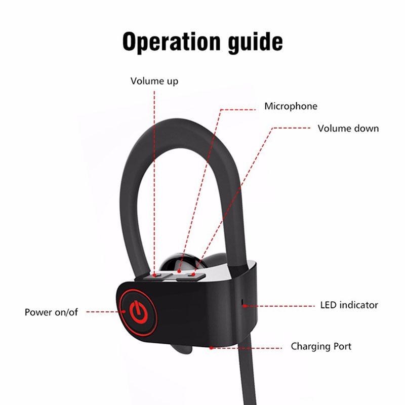 bluetooth V4.2 earphone noise reduction bluetooth Ear-hook headset wireless sports bass earphone for Philips E160 I908 V387 W661