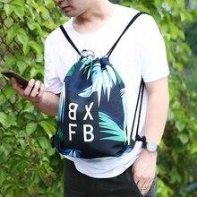 2019 Newest Fashion Fitness Shoulder Bag Unisex Sports Bag Digital Printed Bouquet Pocket Beach Bag Leather Shoulder Bag #