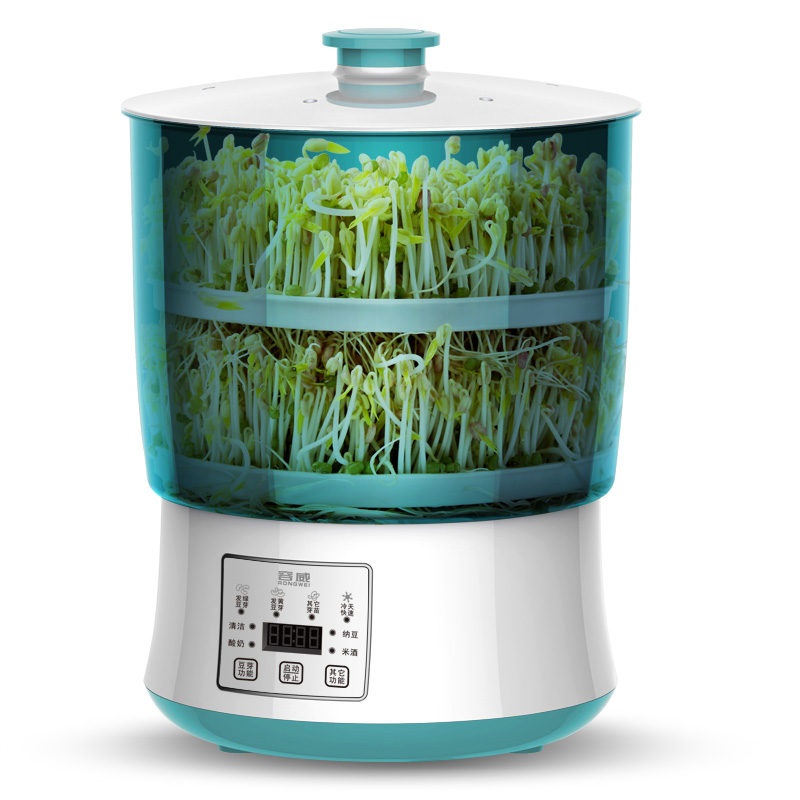 Digital Double layer Bean sprouts machine Household Fully automatic High capacity Fat bean sprouts machine kitchen appliances bean sprout machine germination intelligence home double layer nursery pots automatic bean sprouts machine kitchen electrical