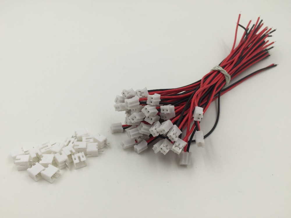 10 SETS Mini Micro JST 2.0 PH 2-Pin Connector plug with Wires Cables 120MM Factory Directly Wholesale Customer-made OEM Hot mini micro jst 2 0mm t 1 6 pin connector w wire x 10 sets 6pin 2 0mm