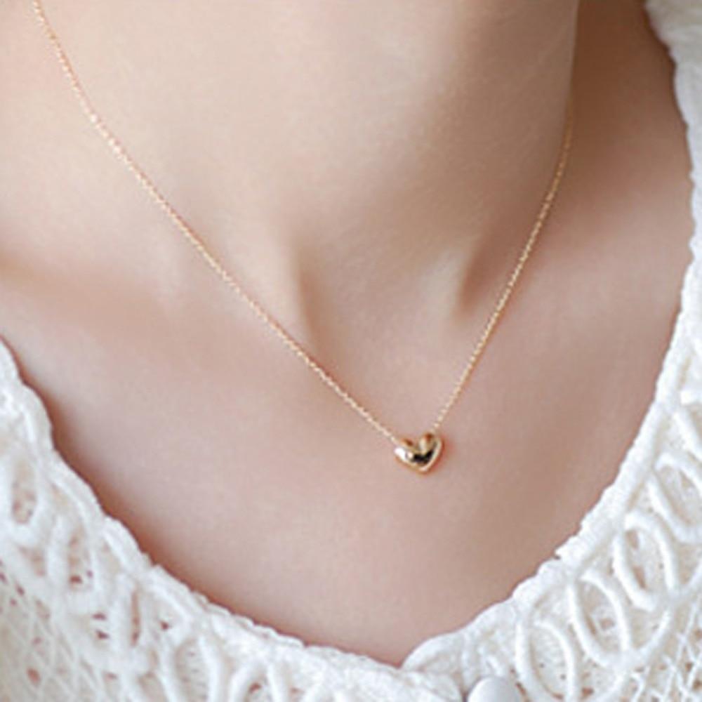 Fashion Short Necklace Mini Heart Pendant Neckchain Choker Fine Jewelry