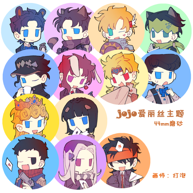 Japanese Anime JoJo's Bizarre Adventure Giorno Giovanna Kakyoin NoriakiBruno Bucciarati Bedge Brooch Pins Cute Badges