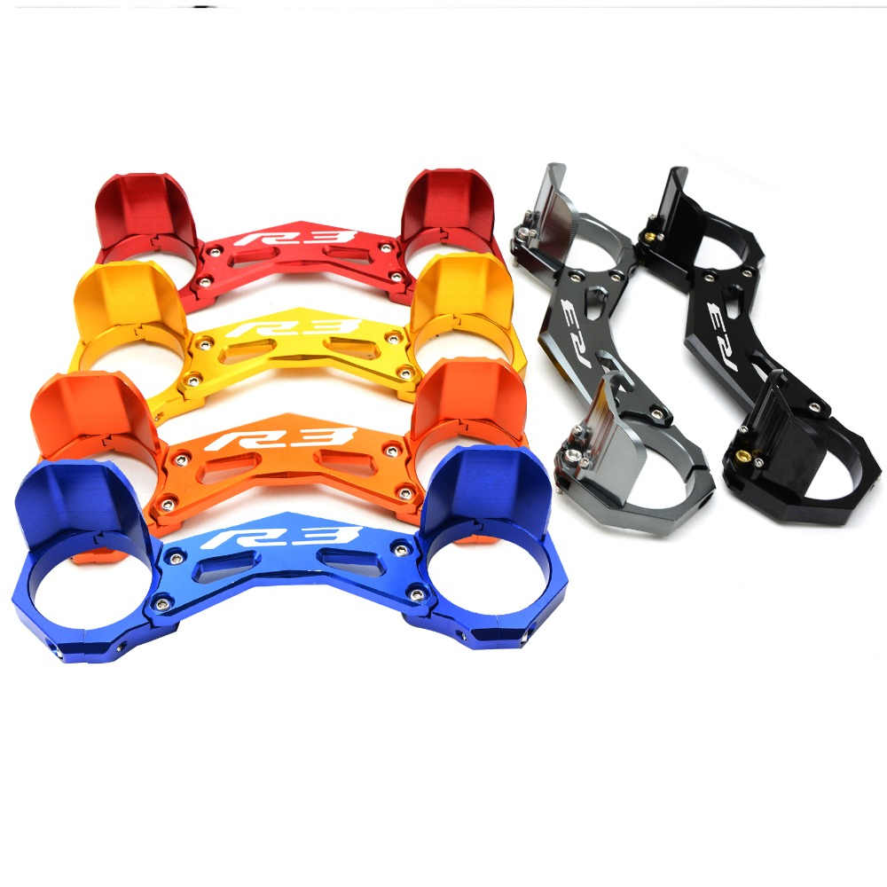 for CNC Motocross  Motorcycle  Front fork bracket  MOTORCYCLE  accessories For Yamaha YZF-R3 YZF R3  15-16