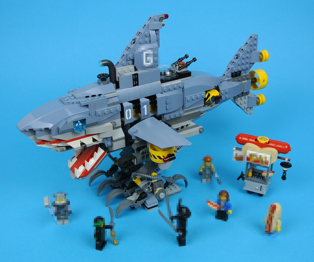 купить New Ninja movie Big Shark 70656 fit legoings ninjagoings figures city technic robot Building Block Bricks diy boy Toys gifts kid