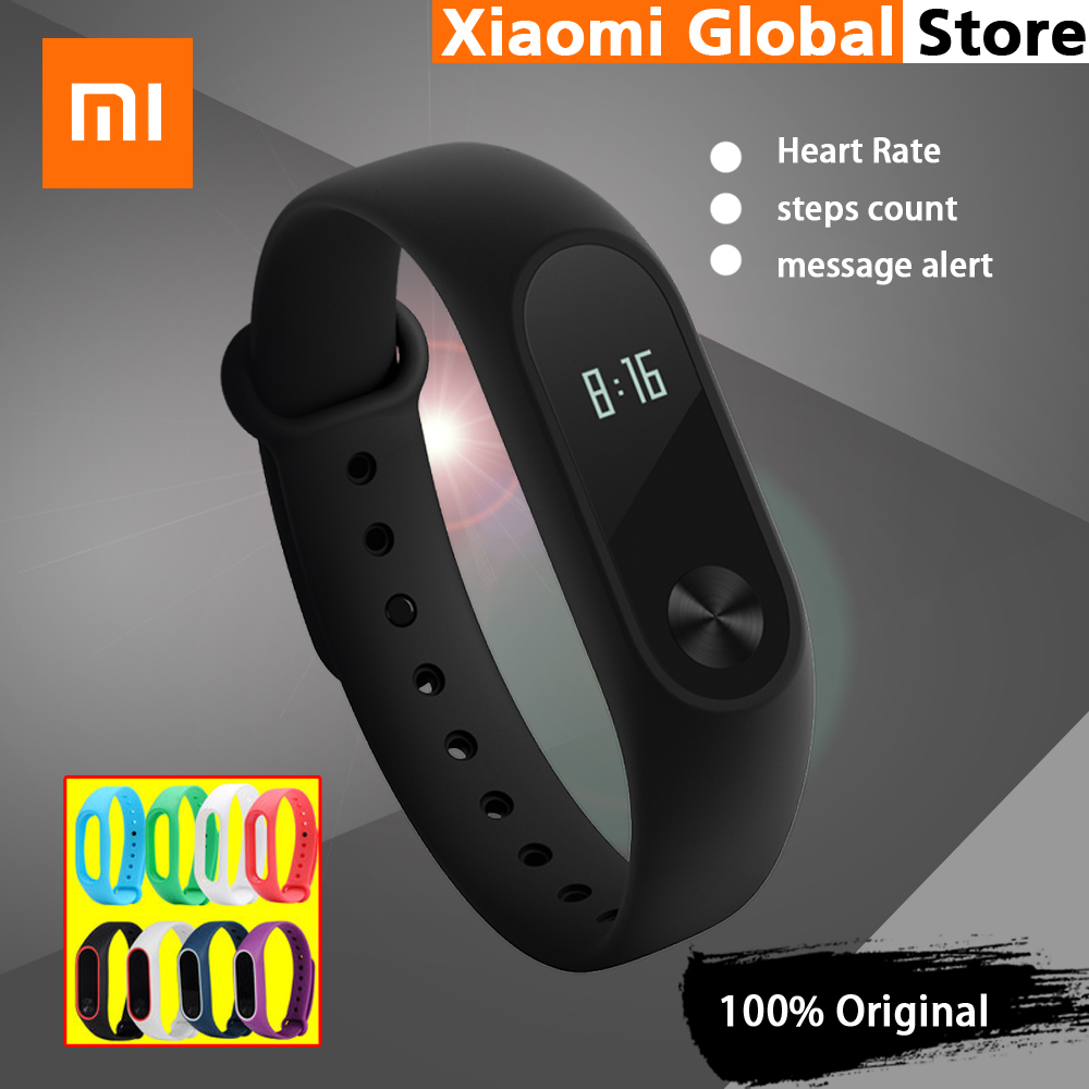 100 Original Xiaomi Mi Band 2 Smart Bracelet Wristband Miband 2 Heart Rate Monitor Fitness Tracker