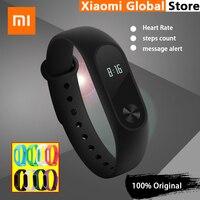 Original Xiaomi Mi Band 2 Smart Fitness Armbanduhr Armband Miband OLED Touchpad Schlaf Monitor Herzfrequenz Wasserdicht IP67