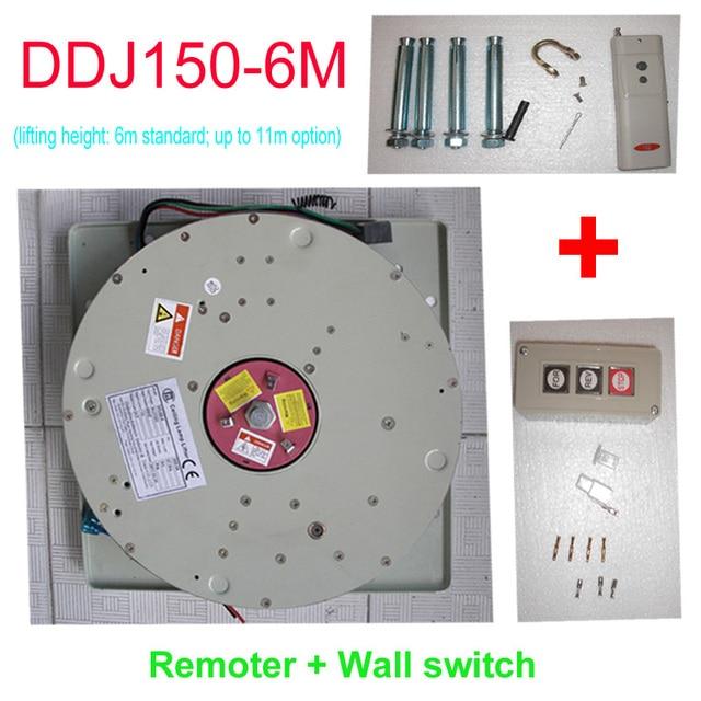 150KG 6M Wire Control+Remote Control Chandelier Hoist Light Lift Chandelier Motor Light Lowering System,110V,120V,220V,230V,240V